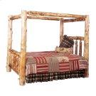 Cedar King Canopy Log Bed - Complete - Vintage Cedar Product Image
