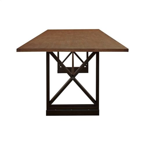 """Custom Dining 79"""" Table with Metal Base"""
