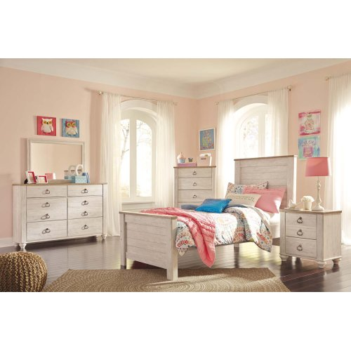 Willowton - Whitewash 3 Piece Bed Set (Twin)
