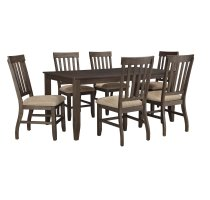 Dresbar - Grayish Brown 7 Piece Dining Room Set Product Image