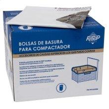 "60 Pack-Plastic Compactor Bags-15"" Models"