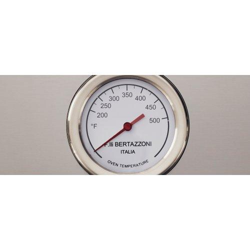 36 inch All Gas Range, 6 Brass Burners Bianco