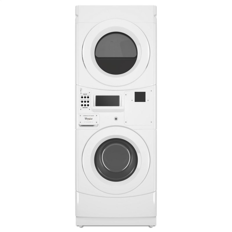 Commercial Electric Stack Washer/Dryer, Non-Vend and Card Reader-Ready