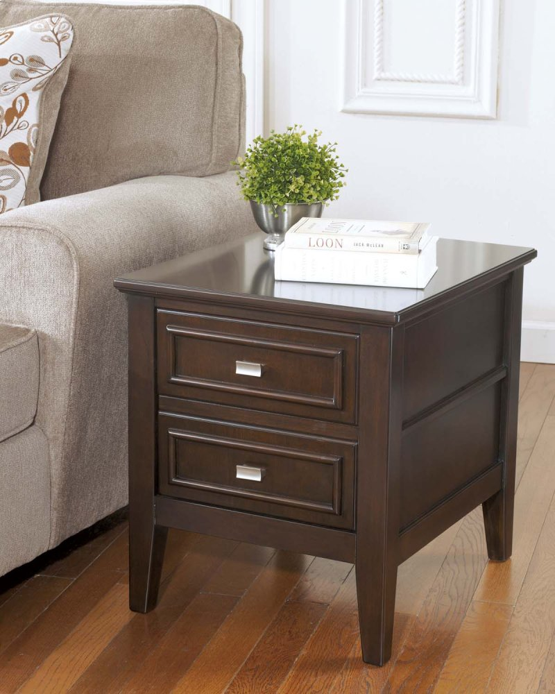 T6542 In By Ashley Furniture In Tulsa Ok Rectangular End Table