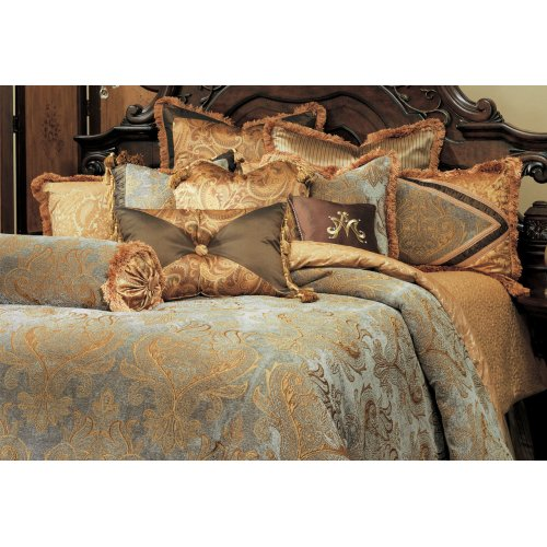 13 PC.King Comforter Set Aqua