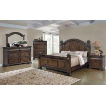 Satterfield Traditional Warm Bourbon Queen Bed