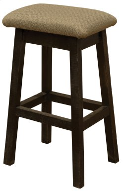 """Frontier Saddle Stool - 30"""" Seat Height - Red Canyon Finish-Upgrade Fabric"""