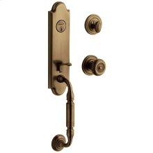 Satin Brass and Black Nantucket Escutcheon Trim
