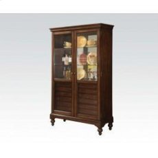Cherry Curio Cabinet W/6 Drw Product Image