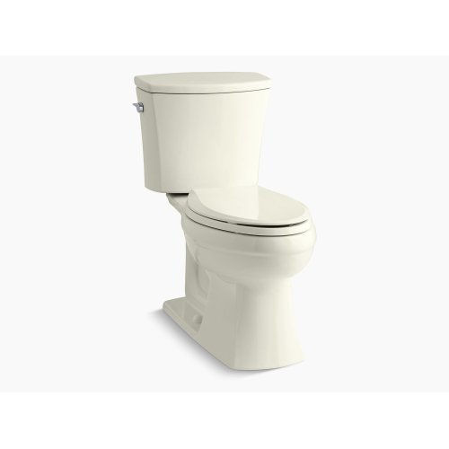 Biscuit Comfort Height Two-piece Elongated 1.6 Gpf Toilet With Aquapiston Flushing Technology and Left-hand Trip Lever, Seat Not Included