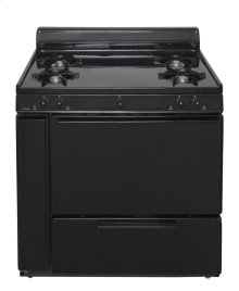 36 in. Freestanding Battery-Generated Spark Ignition Gas Range in Black