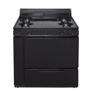 Premier36 in. Freestanding Battery-Generated Spark Ignition Gas Range in Black
