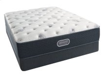 BeautyRest - Silver - Sea Glass Plush - Queen 2 pc. Mattress Set