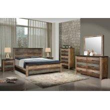Sembene Bedroom Rustic Antique Multi-color Queen Bed