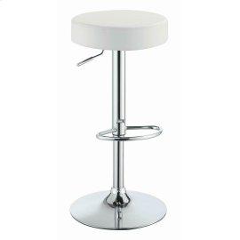 Modern White Adjustable Bar Stool