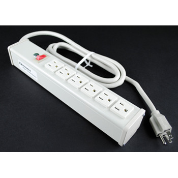 Plug-In Outlet Center Unit / 120V/15A/6 O/L /lighted switch/6