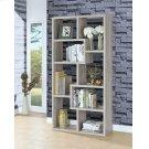 Transitional Grey Driftwood Bookcase Product Image
