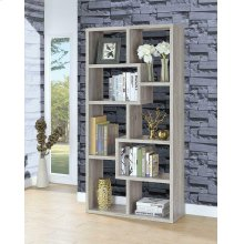 Transitional Grey Driftwood Bookcase