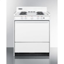 "30"" Wide Electric Range With Indicator Lights and A Three-prong Line Cord, for Hud Applications."