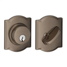 Single Cylinder Deadbolt with Camelot trim - Antique Pewter