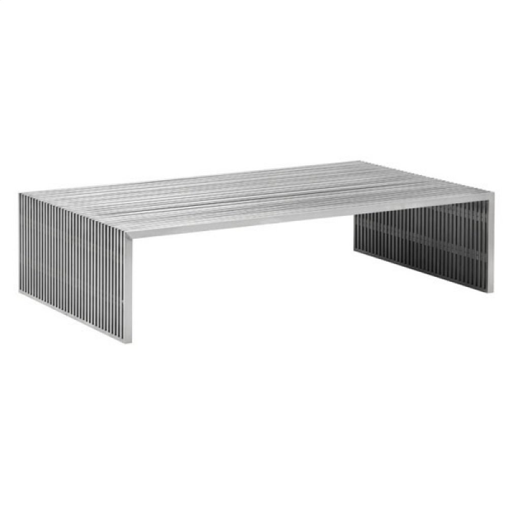 Novel Long Coffee Table Brushed Stainless Steel