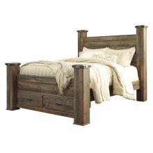 Trinell - Brown 5 Piece Bed Set (Queen)