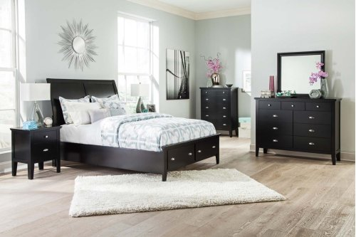 Braflin - Black 3 Piece Bed Set (Queen)