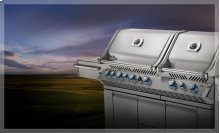 Prestige PRO 825 with Power Side Burner and Infrared Rear and Bottom Burners (NG)