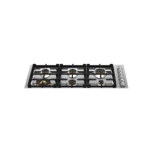 "Bertazzoni36"" Drop-in Gas Cooktop 6 Brass Burners"