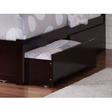 Two Urban Bed Drawers Queen/King in Espresso