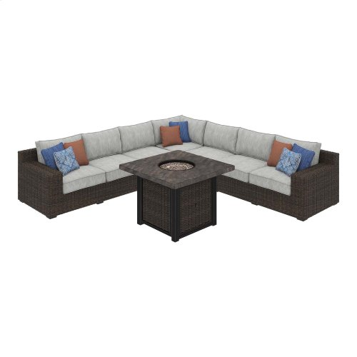 Alta Grande - Beige/Brown 7 Piece Patio Set