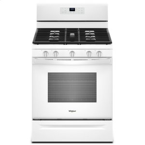5.0 cu. ft. Freestanding Gas Range with Center Oval Burner White - WHITE