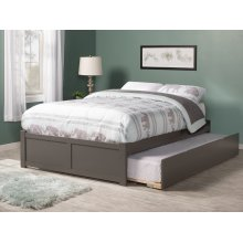 Concord Full Flat Panel Foot Board with Urban Trundle Atlantic Grey