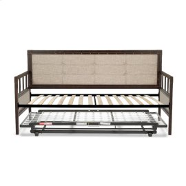 Gotham Complete Metal Daybed with Euro Top Spring Support Frame and Pop-Up Trundle Bed, Brushed Copper, Twin