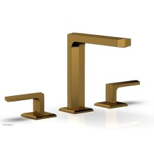 "DIAMA Widespread Faucet - Lever Handles 6-3/4"" Height 184-02 - French Brass"