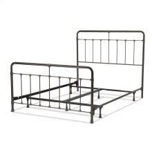 Fairfield Complete Bed with Metal Panels and Castings, Dark Roast Finish, Full