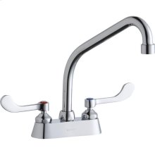"""Elkay 4"""" Centerset with Exposed Deck Faucet with 8"""" High Arc Spout 4"""" Wristblade Handles Chrome"""