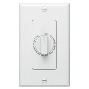 BroanElectronic Variable Speed Control, White, 3 amp capacity. 120V