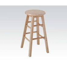 "24""H WOODEN STOOL/NATURAL"