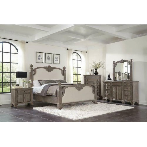 Jenna Vintage Grey Eastern King Bed