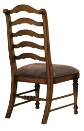 Dining Room Waverly Place Sporty Cognac Fabric Ladderback Side Chair