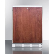 Built-in Undercounter Refrigerator-freezer for General Purpose Use, With Dual Evaporator Cooling, Lock, Ss Door Frame for Panel Inserts, and White Cabinet
