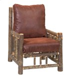 Hickory Log Frame Lounge Chair - Customer's Own Material - Includes Fabric and Cushions Product Image
