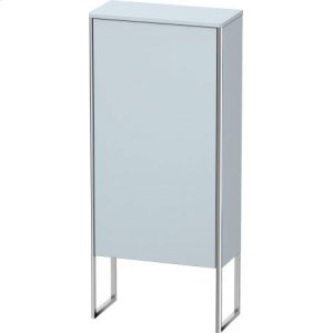 Semi-tall Cabinet Floorstanding, Light Blue Satin Matt Lacquer