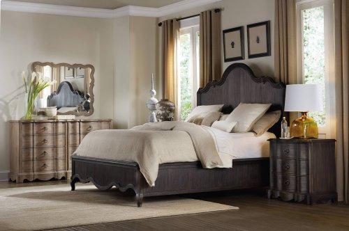 Bedroom Corsica Dark King Panel Bed