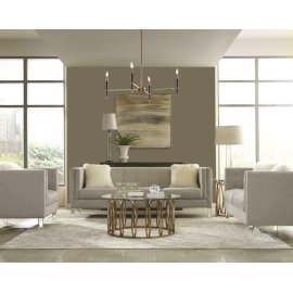 Hemet Modern Light Grey Three-piece Living Room Set