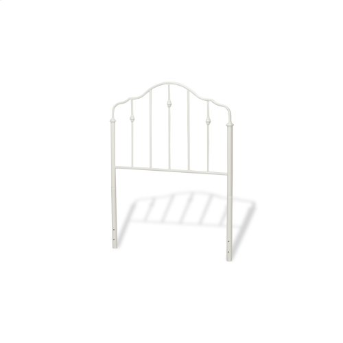 Lorna Complete Kids Bed with Metal Duo Panels and Accented Spindles, Warm White Finish, Full