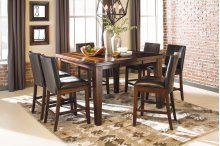 Larchmont - Burnished Dark Brown 7 Piece Dining Room Set