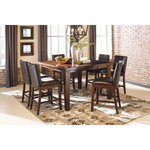 Ashley Furniture Larchmont - Burnished Dark Brown 7 Piece Dining Room Set