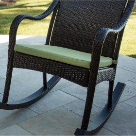 Orleans Rocking Chair Cushion in Avocado Green